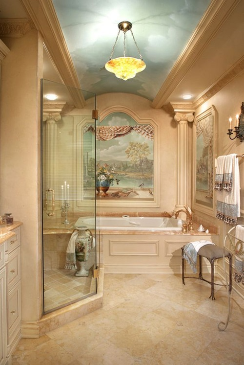 Victorian bathroom curtain ideas interior design for Bathroom ideas victorian