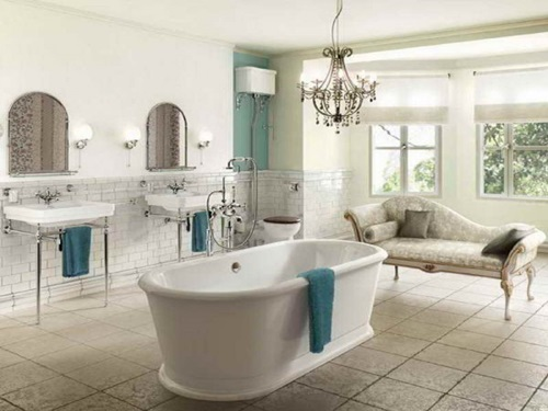 Victorian bathroom curtain ideas interior design - Deco salle de bain vintage ...