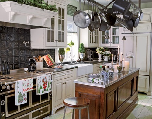 Victorian kitchen curtain ideas victorian style for Victorian kitchen ideas