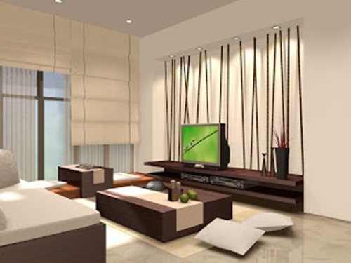 ... Zen Living Room Design - De-clutter, Color and Furniture ...
