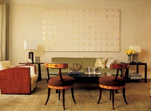 Zen living room design de clutter color and furniture interior