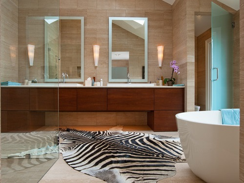African safari bathroom curtain ideas interior design for Modern bathrooms south africa