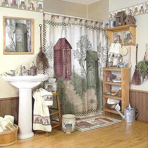 African Safari Bathroom Curtain Ideas Interior Design Safari Bathroom ...