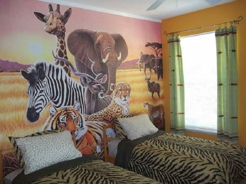 African Safari Bedroom Curtain Ideas