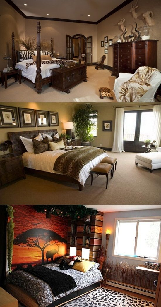 African Safari Bedroom Curtain Ideas Interior Design