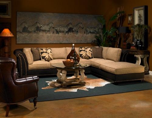 African Safari Living Room Ideas