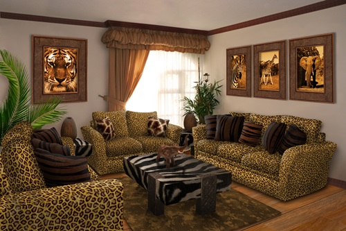 African Safari Living Room Ideas - Interior design