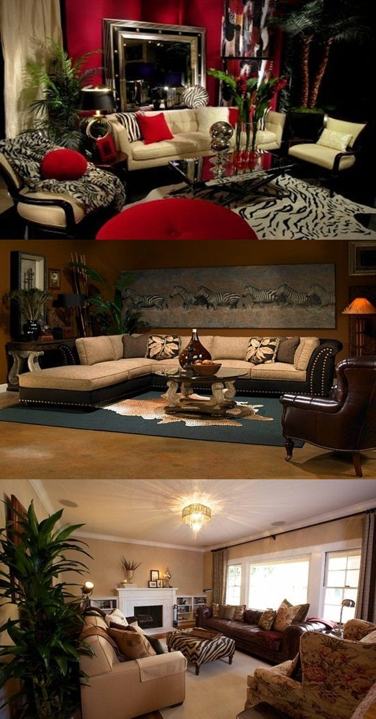 African Safari Living Room Ideas Part 75