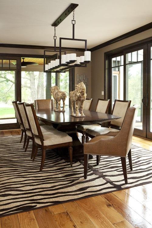An African Safari Dining Room Design
