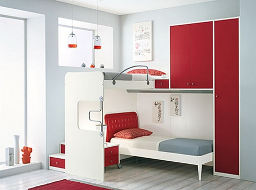 Colors make a room look bigger limited space interior for Limited space bedroom ideas