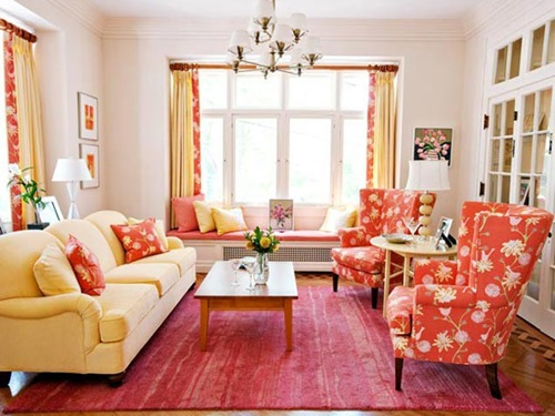 Cottage living room curtain ideas interior design for Cottage living room design ideas