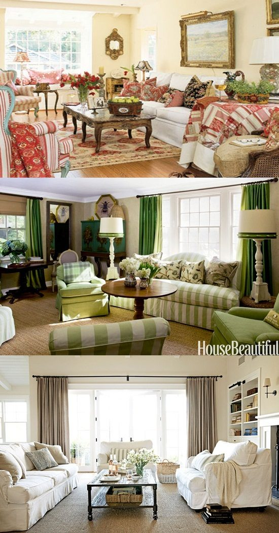 Curtain Design Ideas For Living Room: Cottage Living Room Curtain Ideas