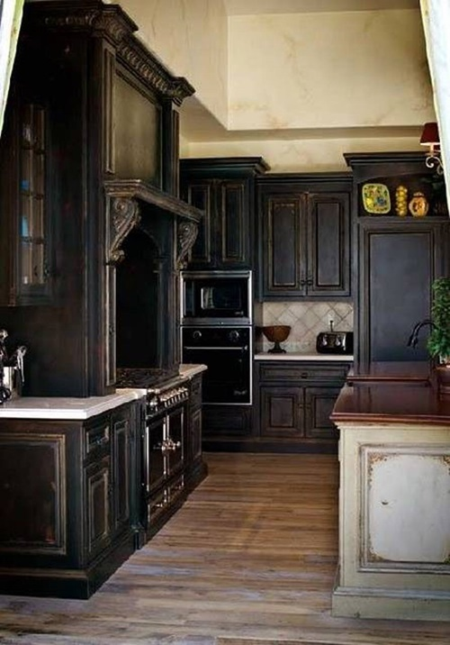 decorate your kitchen with dark kitchen cabinets interior design