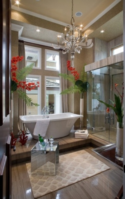 Designing A Tropical Bathroom   Colors, Accessories And Theme ...