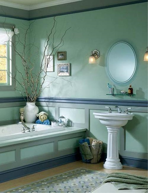 Designing a tropical bathroom colors accessories and for Ocean themed interior design