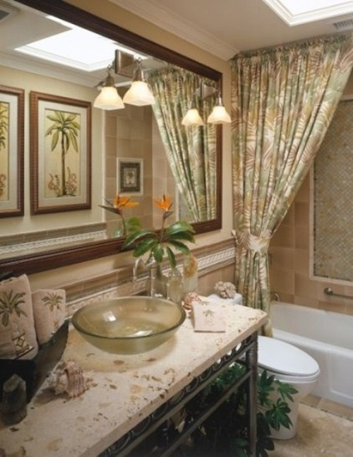 Designing A Tropical Bathroom - Colors, Accessories and Theme