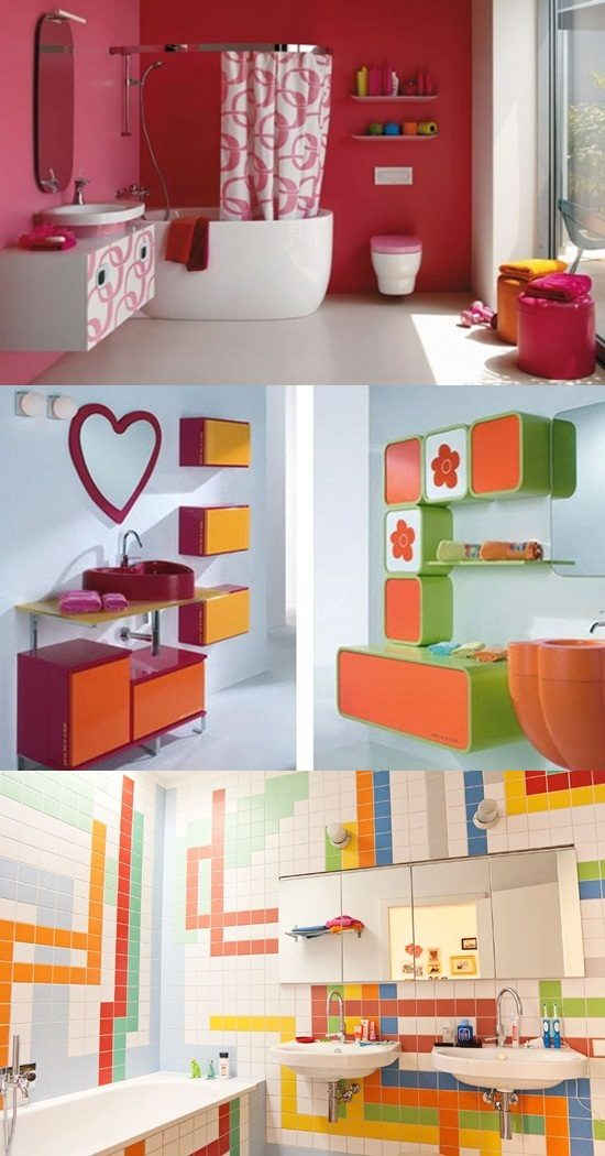 outstanding kids bathroom color | Designing Kids Bathroom – Colors and Themes - Interior design