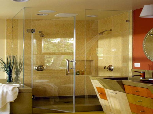 Elegant Glass Bathroom Door Designs