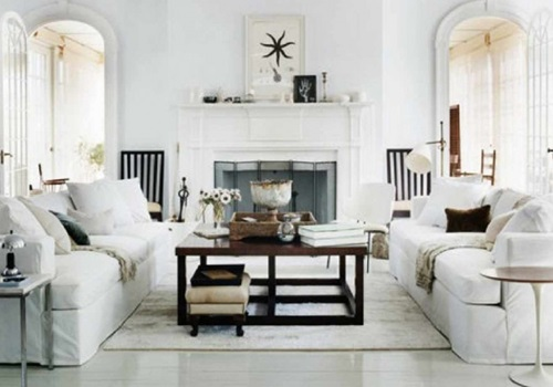 How to Arrange a White Living Room Correctly