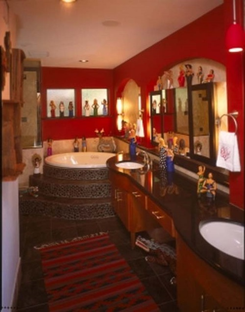 How to decorate your bathroom in mexican style interior design - Interior design styles bathroom ...