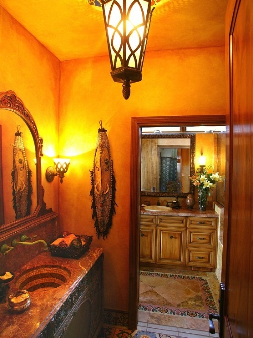 How to decorate your bathroom in mexican style interior for Mexican themed bathroom ideas