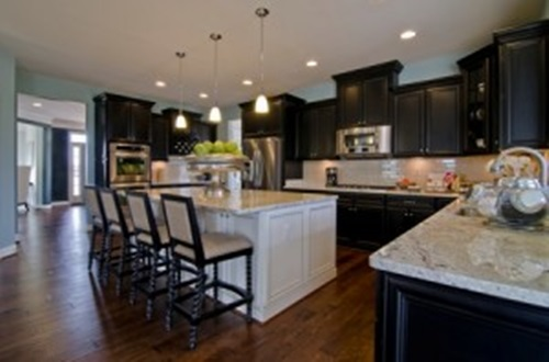 Kitchen cabinet design different colors interior design for Different kitchen layout