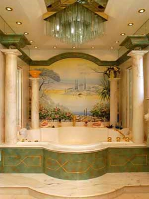 Latest trends in bathroom design styles interior design Bathroom wall paint designs