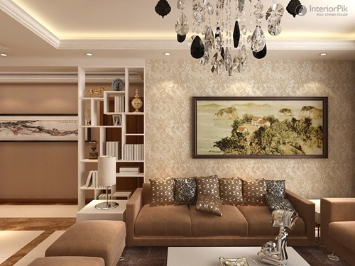 Living Room Walls with Decorative Paints