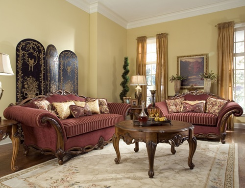 Mediterranean Style Living Room Curtains