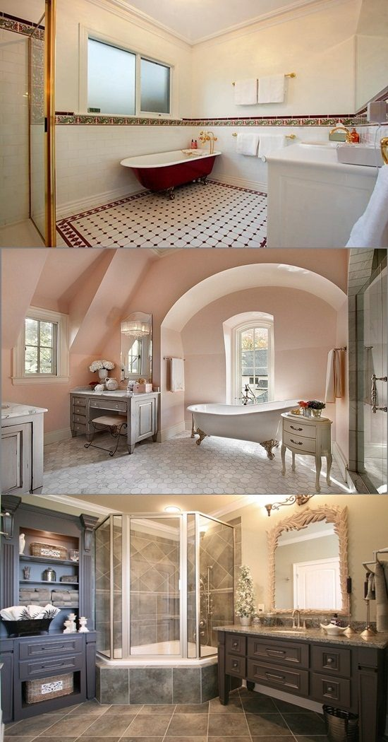 French Interior Design: Traditional French Bathroom Designs