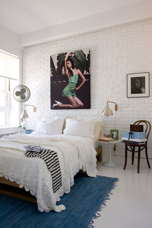 look to paint the walls of your bedroom with light colors as it is