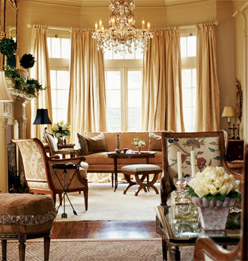 Victorian Room Colors: Victorian Living Room Curtain Ideas