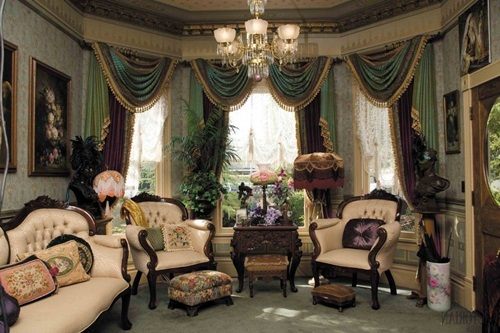 Victorian living room curtain ideas victorian style for Victorian house interior design ideas living room