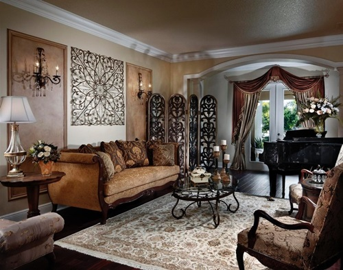 Victorian living room curtain ideas victorian style for Victorian style interior designs