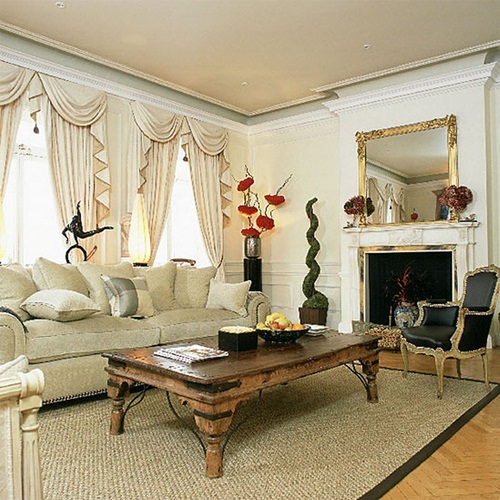 Victorian Living Room Curtain Ideas – Victorian Style - Interior ...