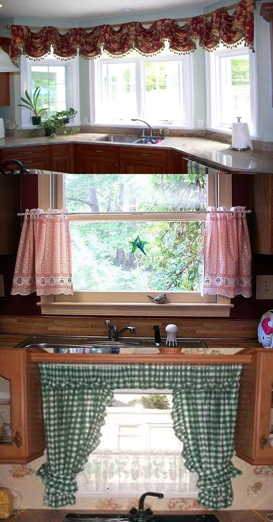 Curtain design ideas home look interior design for Contemporary kitchen curtains