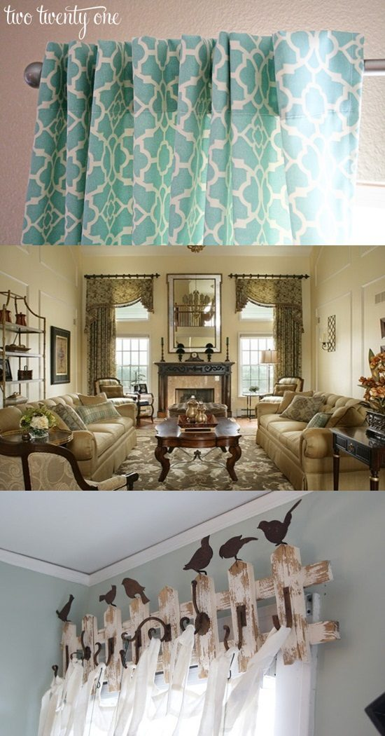 How To Make Your Own Curtains And Valances Diy Interior Design