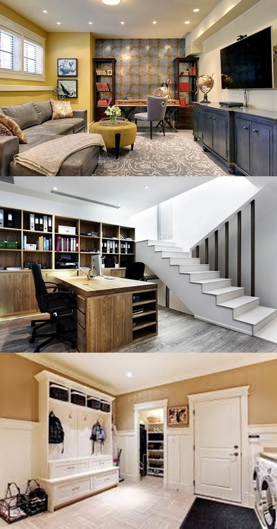Elegant and Functional Basement
