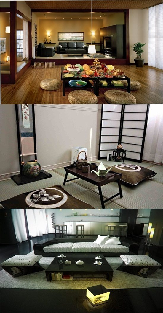 Japanese Living Room Interior Designs – Elegant Living Room