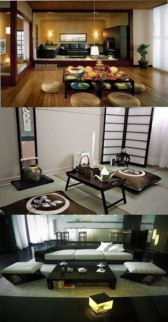 Japanese Room Designs: Japanese Living Room Interior Designs