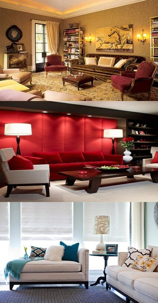 How Furniture Knockoffs Affect Interior Design ~ The psychological effect of colors in your living room