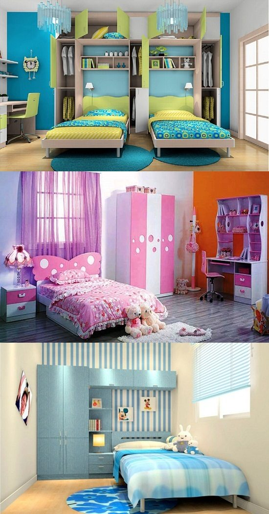 Beautiful wardrobes for kids bedroom interior design for Beautiful room design for kids