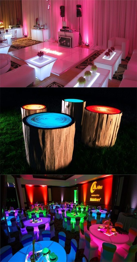 Illuminated Furniture Pieces – Color and Design