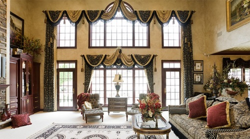 Advises For Decorating Luxury Living Room With The Appropriate Curtains