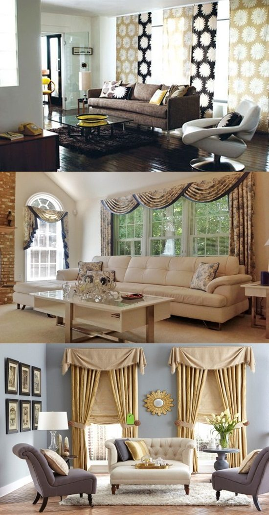 Advises For Decorating Luxury Living Room With The Appropriate Curtains    Interior Design