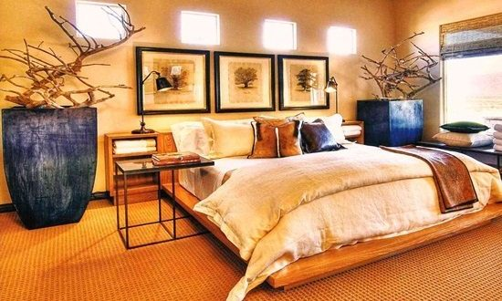 Charming bedroom with nature inspired decor interior design for Nature inspired interior decorating