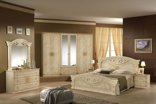 Charming bedroom with nature inspired décor