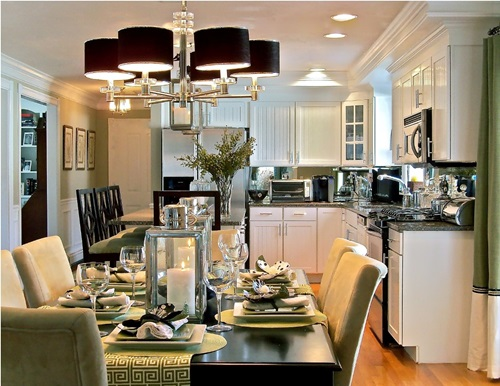 Combine your kitchen and dining room and Get space and style