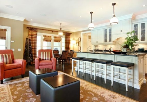 Combine Your Kitchen And Dining Room Get Space Style