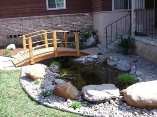 Decorative stones for a beautiful home interior design for Decorative fish pond bridge